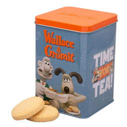 Wallace & Gromit Time for Tea Shortbread Tin from Deans