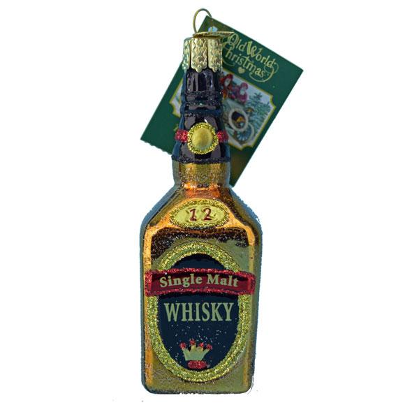 Glass Single Malt Whisky Bottle from Old World Christmas