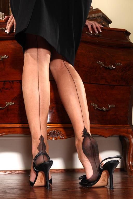 1950s Lingerie History – Bras, Girdles, Slips, Panties, Garters Natalie Diamond Heel $89.00 AT vintagedancer.com