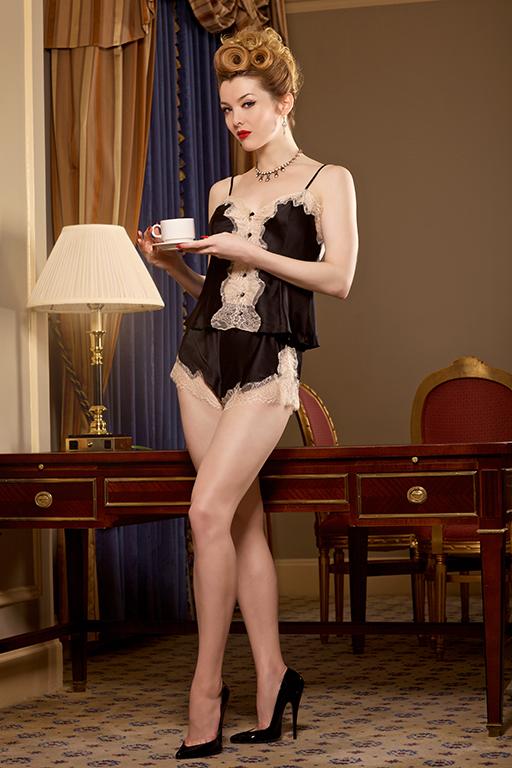 1950s Vintage Lingerie, Retro Pin Up Underwear Dominique Tap Pant/ Champagne Lace $39.00 AT vintagedancer.com