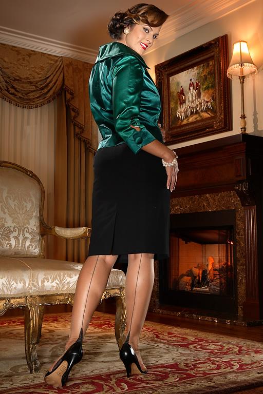 1930s Stockings, Nylons, Tights & Socks Glamour French Heel $32.99 AT vintagedancer.com
