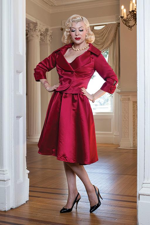 1950s Style Clothing & Fashion Cumberbund Swing Skirt  Glamour Mail $129.00 AT vintagedancer.com
