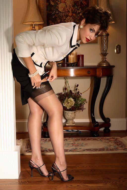 masterbating nylons naked heels