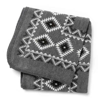 Diamante Gray Knit Throw