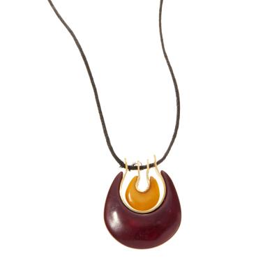 Tagua Double Crescent Necklace