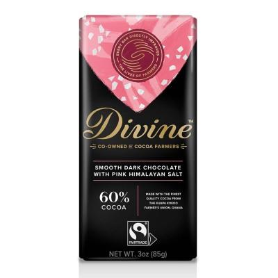 60% Dark with Pink Himalayan Salt Large Bar Case