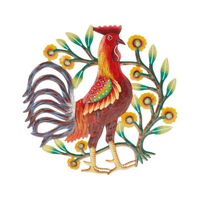Red Rooster Metal Garden Art