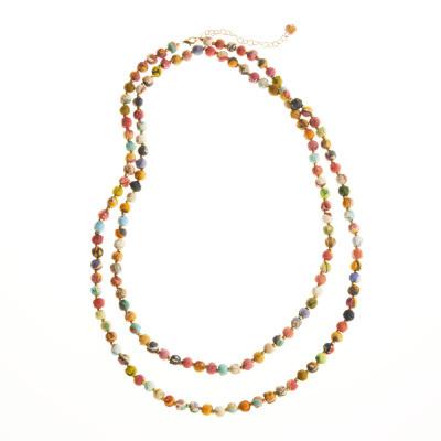 Long Multi Sari Bead Necklace