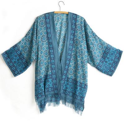Blue Starburst Kimono