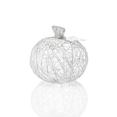 Wire-Wrapped Pumpkin - Medium White