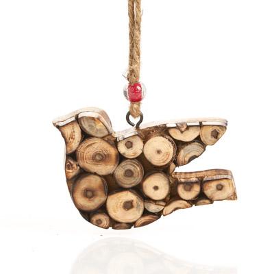 Winter Boughs Dove Ornament