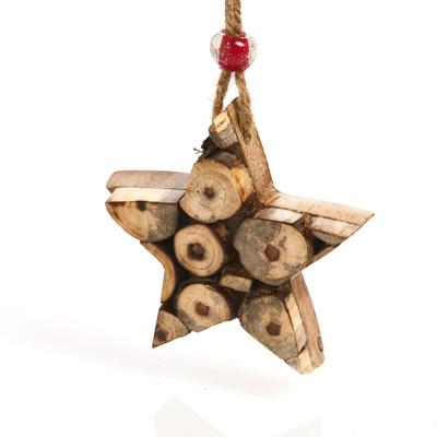 Winter Boughs Star Ornament