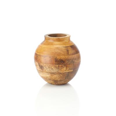 Mango Wood Oval Vase
