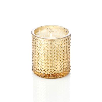 Large Golden Dots Candle Holder