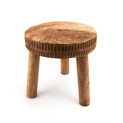 Hand-Carved Mango Wood Plant Stand