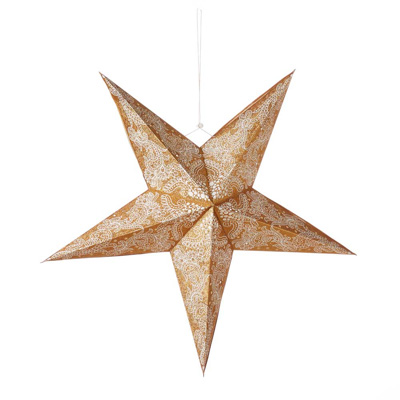 Large Swirling Gold Star Lantern