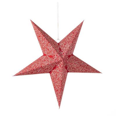 Large Swirling Red Star Lantern