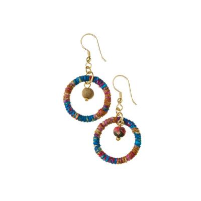 Cool Shana Twisted Sari Earrings