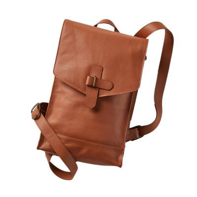 Camel Mandi Leather Backpack