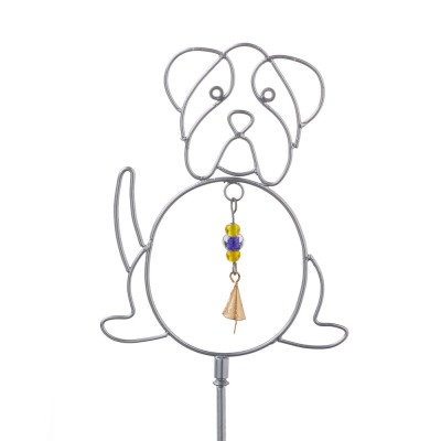 Playful Pooch Bell Stake