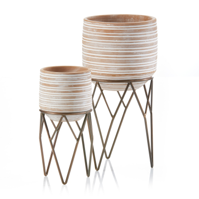 Small Wire Plant Stands - Set of 2