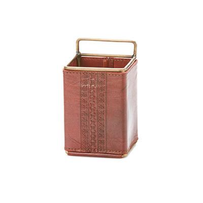 Tarah Leather Pen Cup