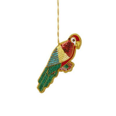Tropical Zari Macaw Ornament