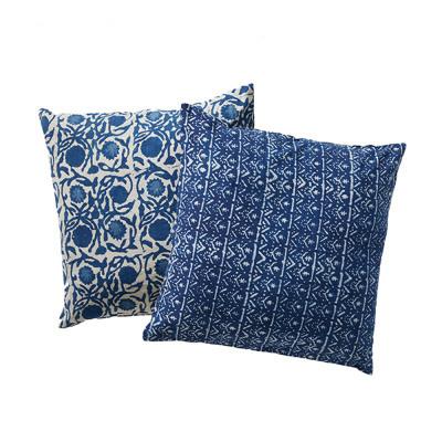 Floral Dabu Cotton Square Pillow