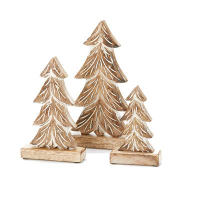Winter Pine Trees - Set of 3