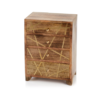 Kala Wooden Jewelry Chest