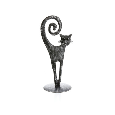 High-Tail Black Cat