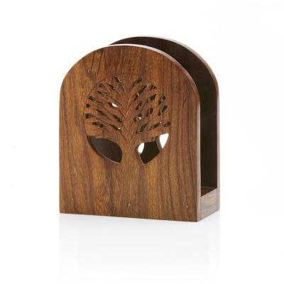 Tree of Life Shesham Wood Napkin Holder