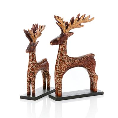 Batik Reindeer - Set of 2