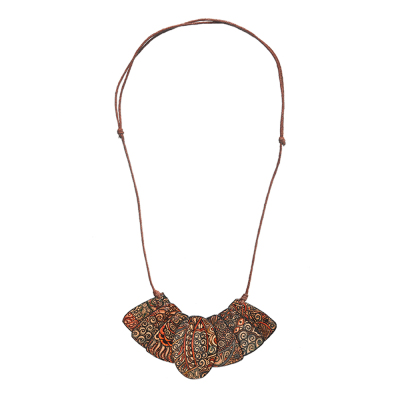Java Batik Leather Necklace
