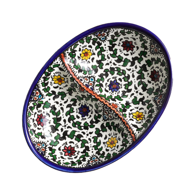 Blue West Bank Divided Dish