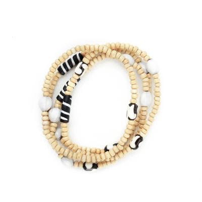 African Batik Stretch Bracelets - Set of 4