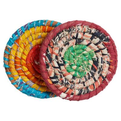 Chindi Wrap Trivets, Set of 2