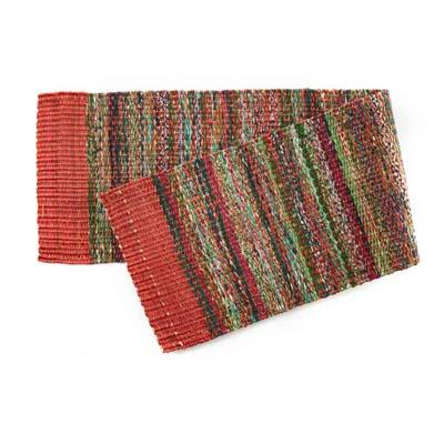 Red Sari Table Runner