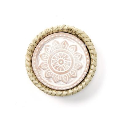 Mandala Warming Coaster with Kaisa Grass Basket
