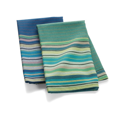 Garden Stripe Towels, Set of 2