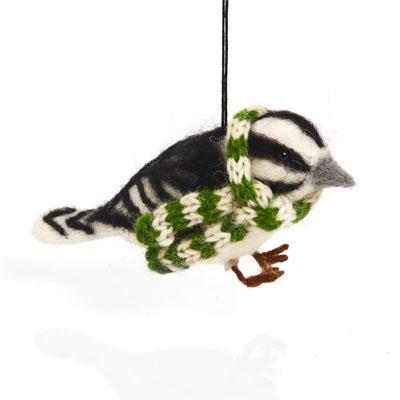 Cozy Woodpecker Ornament