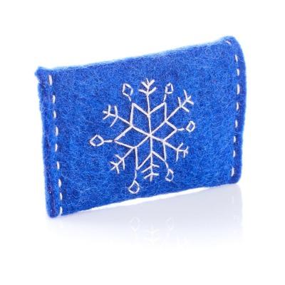 Blue Snowflake Gift Card Holder