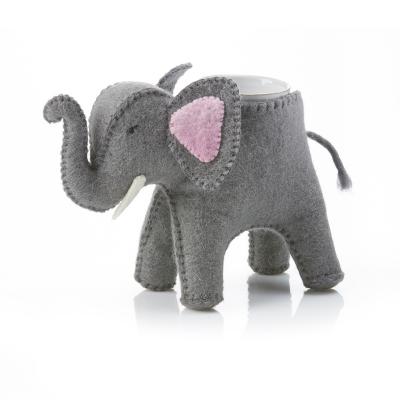 Trunk Show Elephant Felt Planter