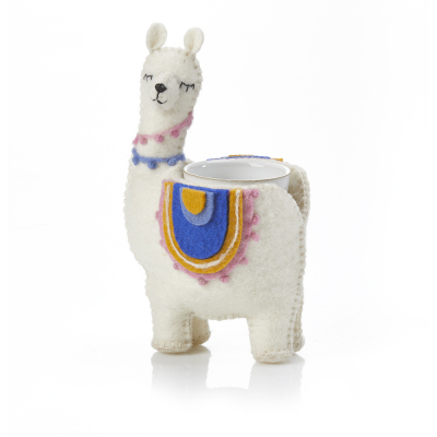 Llama-Rama Felt Planter