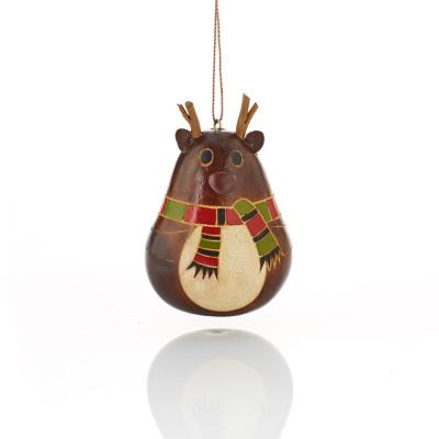Little Antler Reindeer Gourd Ornament
