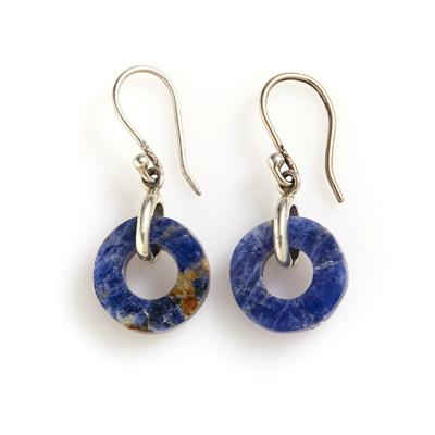 Peruvian Lapis Circle Earrings