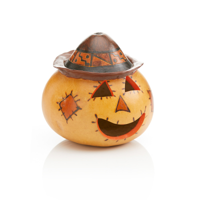 Scarecrow Gourd Jack-o'-Lantern