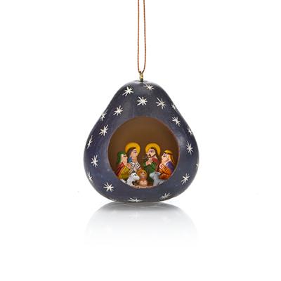 Night Sky Nativity Gourd