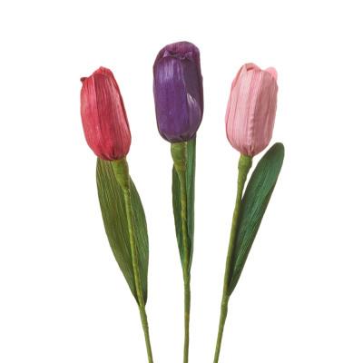 Corn Husk Tulips - Set of 3
