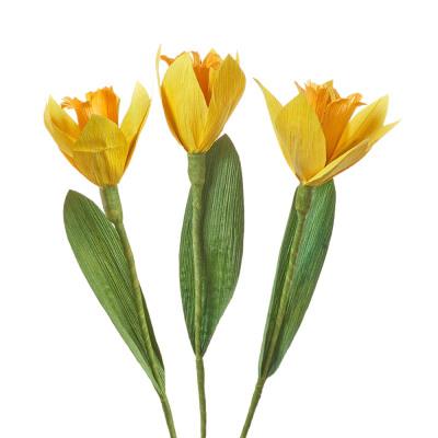Corn Husk Daffodils - Set of 3